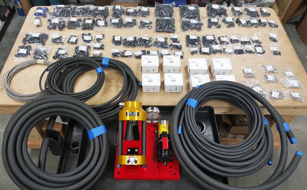 Pressure-hose-equipment
